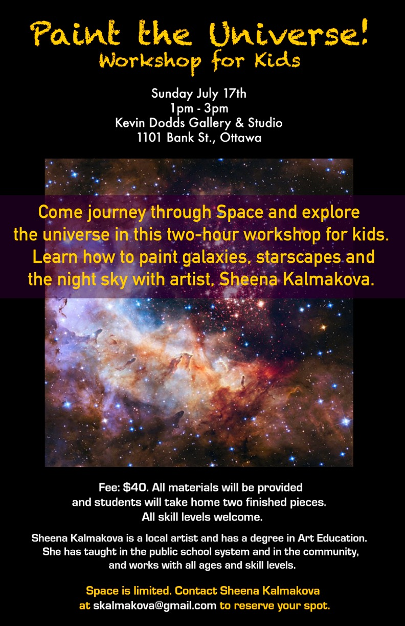 Paint the Universe Workshop Poster